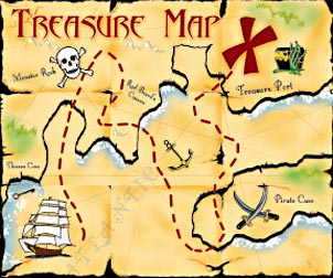 How To Make A Treasure Map For Treasure Hunt TreeHouse Party - Map making for kids