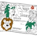 Fun Jungle Party Birthday Invitation for Coloring