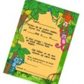 New Free Birthday Invitation with Monkeys in the trees