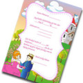 Free birthday invitation for a princess party