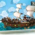 Beautiful Chocolate Pirate Ship Birthday Cake
